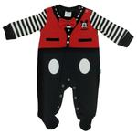 Disney Mickey Mouse Baby Boys Romper , Red/Black-NCGDBIFS1913