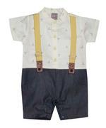 Little Kangaroos Baby Boy Formal Romper , Lemon - ROGS2019390A