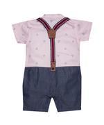 Little Kangaroos Baby Boy Formal Romper , Pink - ROGS2019390B