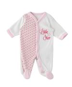 Smart Baby Baby Girl Romper , White/Pink - TIGAW20TGR010