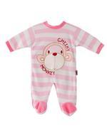 Smart Baby Baby Girl Romper , Pink/White - TIGAW20TGR012