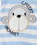 Smart Baby Baby Boy Romper , Blue/White - TIGAW20TGR006