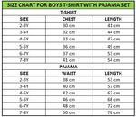 Genius Boys T-shirt With Pajama Set , Grey Melange/Navy - SNGSS2137057