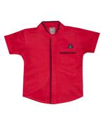 Little Kangaroos Baby Boy Shirt , Red - ROGS2019421D