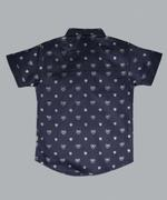 Little Kangaroos Boys Shirt With Necktie , Navy - ROGS2019116A