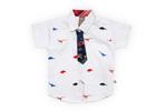 Little Kangaroos Baby Boys H/S Frount On AOP Shirt,White-ROGS2019324D