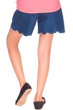Disney Princess Girls Denim Short Culottes, Denim Blue-HWGLPR93
