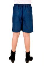Pink Panther Girls Denim Short Culottes, Blue-HWGLPP38