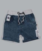 Little Kangaroos Baby Boys Denim Shorts , Light Blue - ROGS2019344B