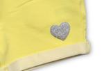 Little Kangaroos Baby Girls Knitted Jogger Shorts,Yellow -ROGS2019866E