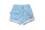 Little Kangaroos Baby Girls Knitted Jogger Shorts,Blue-ROGS2019866G