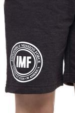 Mission Impossible Boys Shorts , Black Melange - HWGLS21BTN08