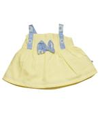 Little Kangaroos Baby Girl Top With Short Set , Yellow/Blue - ROGS2019847A