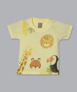 Little Kangaroos Baby Boy T-Shirt With Short Set , Yellow/Denim - ROGS2019289A