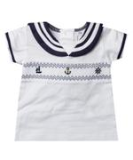 Rock A Bye Baby Baby Boys T-shirt With Short Set , Navy Blue/White - JCGS21T20319
