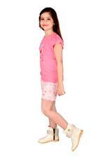 Genius Girls T-shirt With Short Set , Pink/Light Pink - MCGSS218550