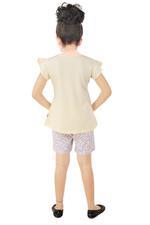 Genius Girls T-shirt With Shorts Set , Lemon/Multi- SNGSS2137382