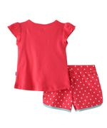 Smart Baby Baby Girls T-Shirt With Hot Pant Set,Coral-SNGSS2137527