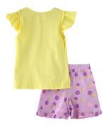 Genius Girls Top With Bloomer Set,Yellow/Purple - MCGSS218490