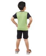 Genius Boys T-shirt With Short Set , Green/Black - SNGSS2137130