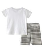 Smart Baby Baby Boys T-shirt With Short Set , White/Light Grey - SNGSS2137759