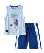 Genius Boys T-shirt With Short Set , Sky Blue/Royal Blue - SNGSS2137043