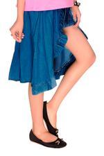 Jojo Siwa Girls Denim Skirt, Blue-HWGLJJ55