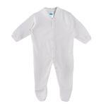 Smart Baby Organic Cotton Unisex Sleepsuit With Feet , White - TIGS1OCWFNB