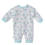 Smart Baby Baby Girls Full Sleeves Printed Sleepsuit,White/Blue,BIGS20CG551NBLU