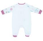 Smart Baby Baby Girls Sleepsuit With Footies, White-NCGSBISU1937