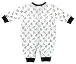 Smart Baby Baby Boys Sleepsuit, White/Black-NCGSBISU1910