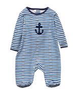 Rock A Bye Baby Baby Boys Sleepsuit , Blue/Black - JCGS21T20306