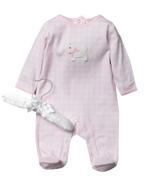 Rock A Bye Baby Baby Girls Sleepsuit , Pink - JCGS21T20327