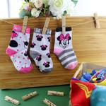 Minnie Mouse Girls 3Pair Socks Set,Multi,TCGLTRHA467