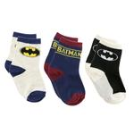 Batman Boys 3Pair Socks Set,Multi,TCGLTRHA464