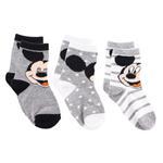 Mickey Mouse Boys 3Pair Socks Set,Multi,TCGLTRHA458