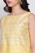 Biba Cotton Silk A Line Suit Set,Yellow,BG6732YLW