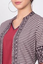 Biba Women Cotton Fusion Wear Set,Maroon,BG1161MRN38