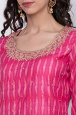 Biba Women Poly Cotton Garara Suit Set,Pink,BG6385PNK36