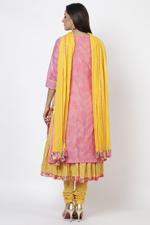 Biba Women Cotton A Line Suit Set,Pink,BG6632PNK40