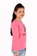 Flower Girl Girls Full Sleeves Sweatshirt,Pink-MCG1247