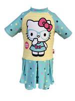 Hello Kitty Girls Swimwear Swimsuit With Skirt , Mint/Yellow - HWGLS21SWHK3S