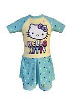 Hello Kitty Girls Swimwear Swimsuit With Skirt , Mint/Yellow - HWGLS21SWHK3B