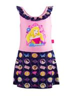 Disney Princess Girls Swimwear Dress, Pink/Navy -HWGLSWP11