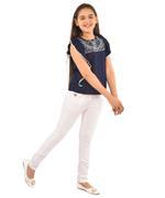Nexgen Girls Girls Solid Top,Navy-KFGSS211818A