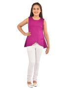 Nexgen Girls Girls Solid Top,Purple-KFGSS211826A