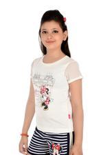 Minnie Mouse Top, White-HWGLMM95