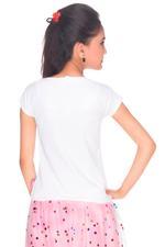 Disney Princess Girls Knit Top, White-HWGL1P61