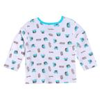Smart Baby Baby Boys Full Sleeves Printed T-shirts,White/Blue-SIMG43001FTP