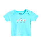 Smart Baby Baby Boys Short Sleeves Plain T-shirts,Blue-SIMG43001ETS